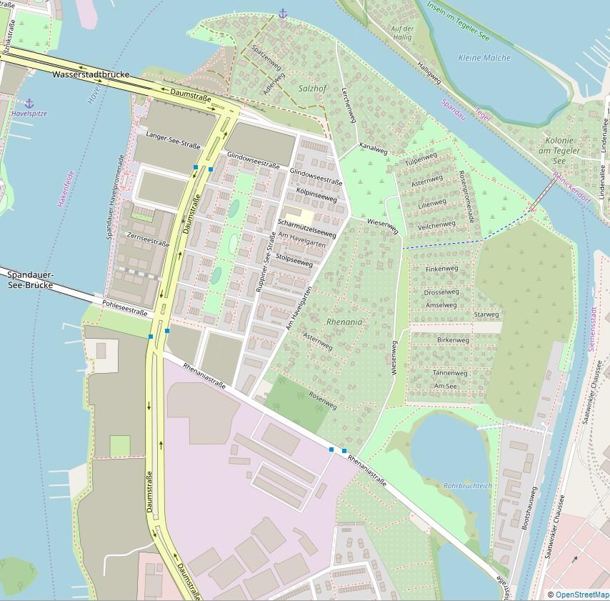 Stadtplan Sperrbezirk